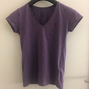 Purple polo v neck t shirt XS TP SLIM